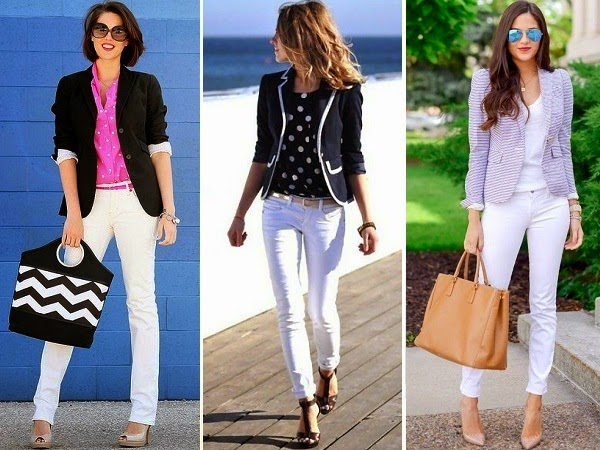 11 Outfits to wear on Womenu2019s White Jeans - LooksGud.in