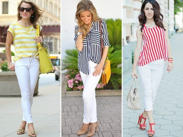 11 Outfits to wear on Women&39s White Jeans - LooksGud.in