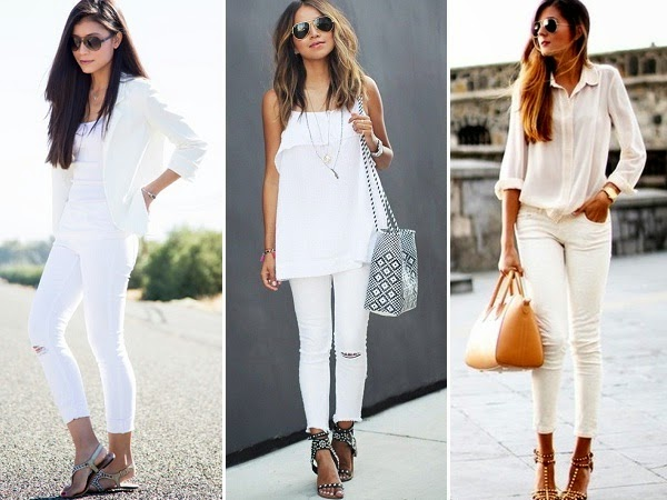 11 Outfits to wear on Women's White Jeans - LooksGud.in