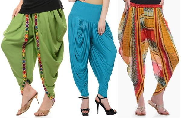 different types of salwar bottoms
