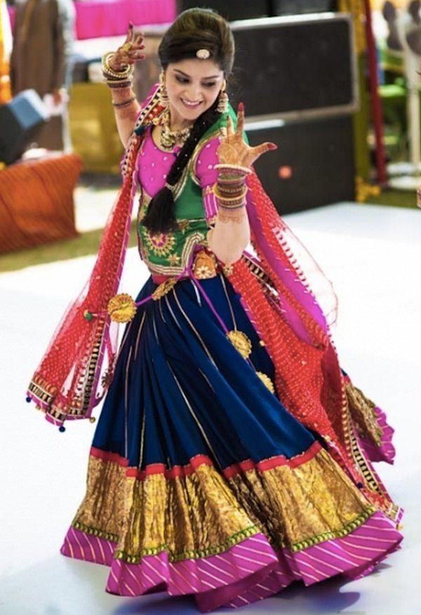 rajasthani ethnic lehenga choli in vibrant colors