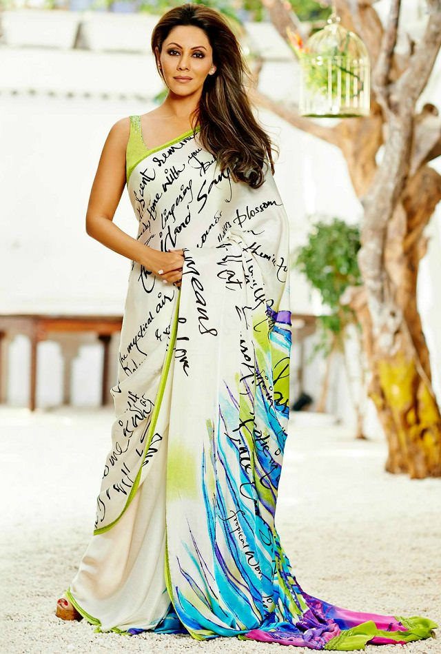 Gauri khan's ways to look slim in saree