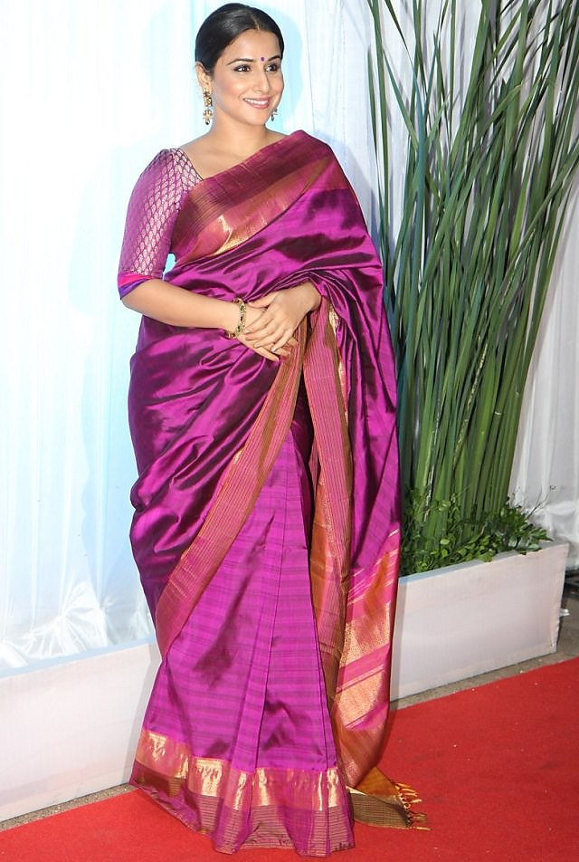 tips to wear saree to look slim from Vidhya Balan