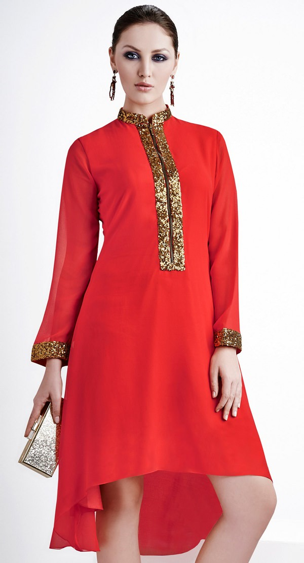 closed-neck Kurti Neck Designs–23 Latest Kurti neck styles 2019