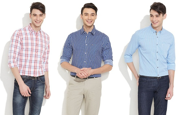 denim trouser with checked or striped formal shirt, Get marvellous look by wearing checks and stripe shirt with denim trouser