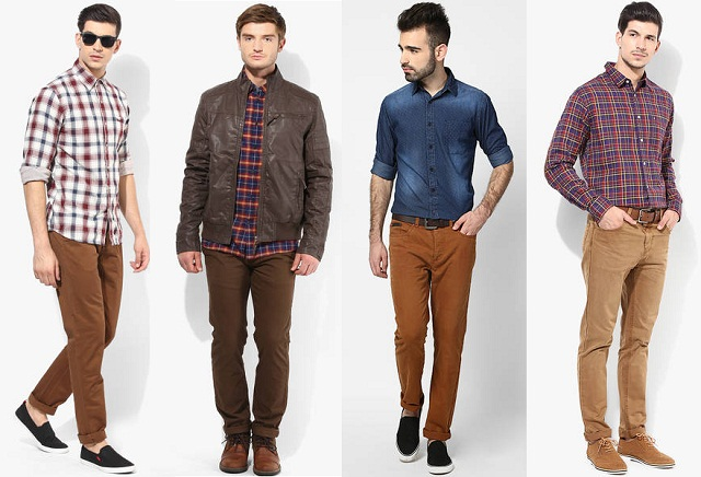 what color shirt goes well with light brown pants mount