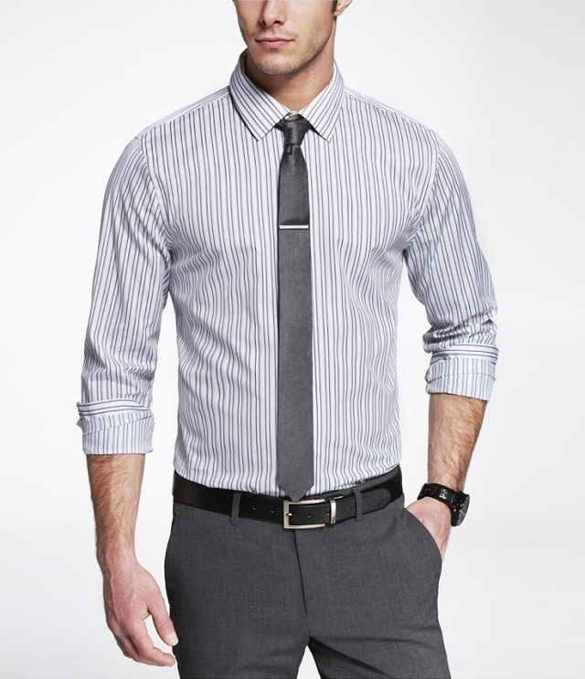 striped shirt with matching pant, good-looking with striped shirt with lining matching pant