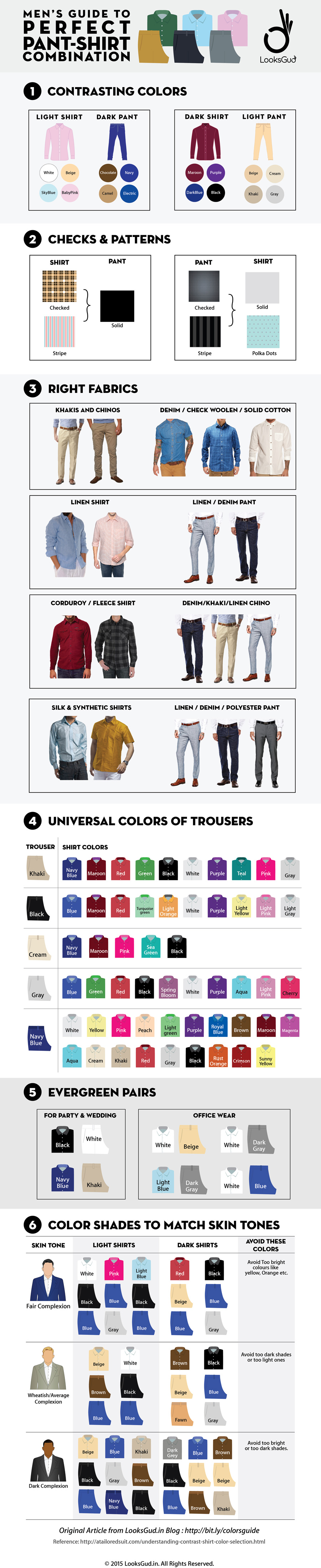 mens shirt combinations guide