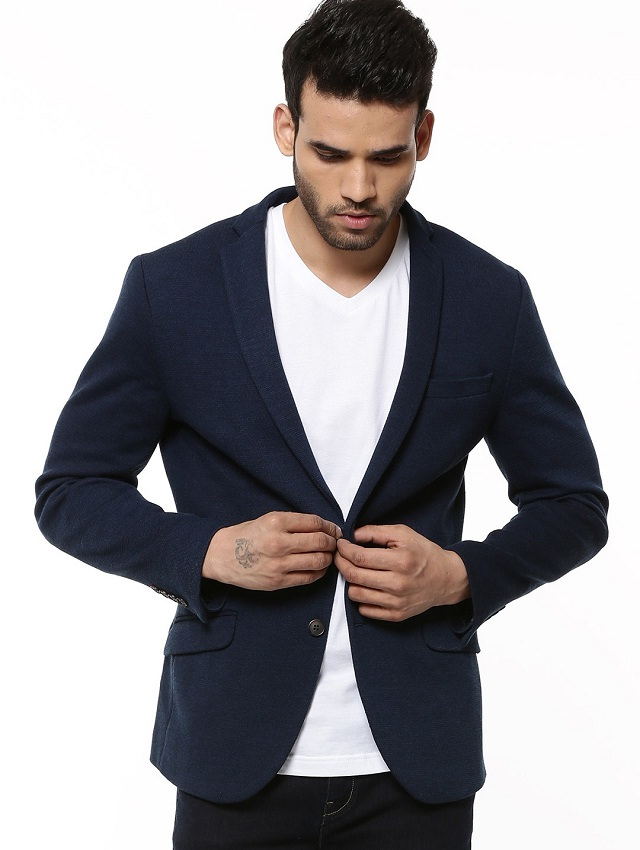 Dark Blue Blazer For Men