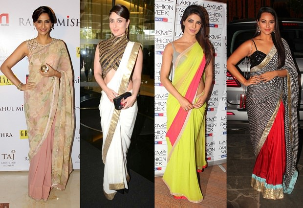 Image result for saree draping styles