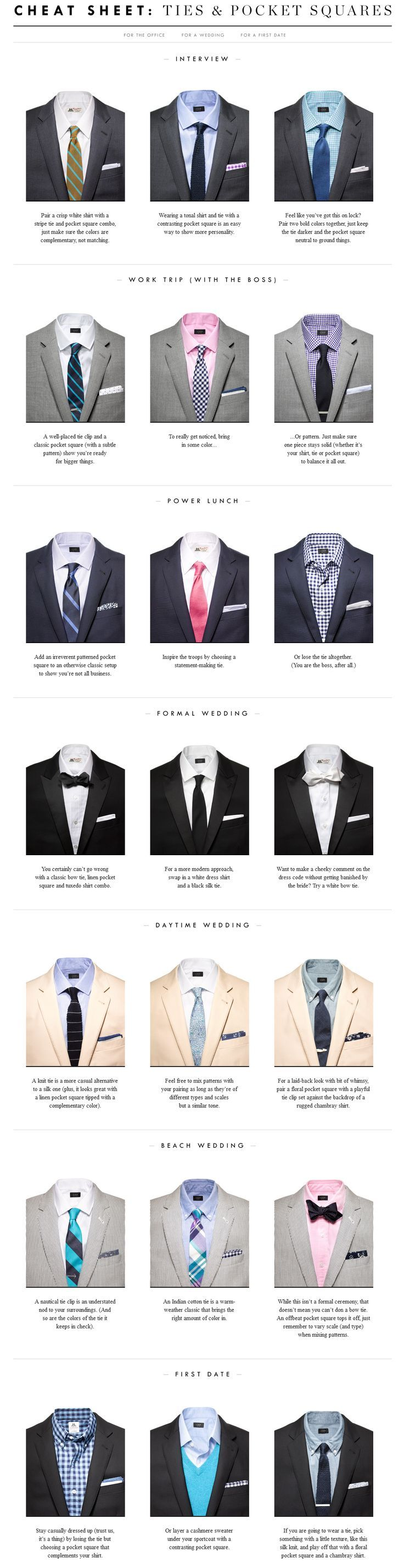 45 Infographics that will make a Man Fashion Expert ...