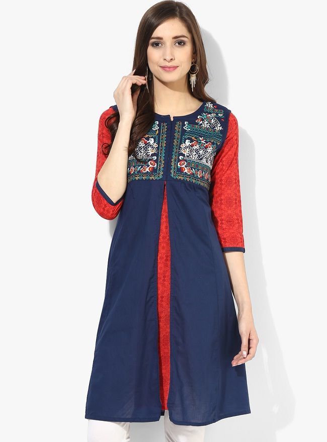 Latest Designer Kurtis With Different Cut Types The