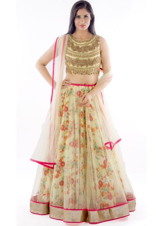 Top 20 Designer Lehenga Cholis just below Rs. 1000 - LooksGud.in