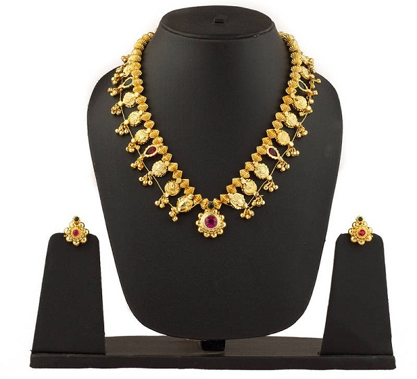 kolhapuri saaj a traditional maharashtrian jewellery in gold plated