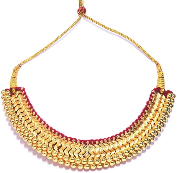 thushi a traditional maharashtrian necklace