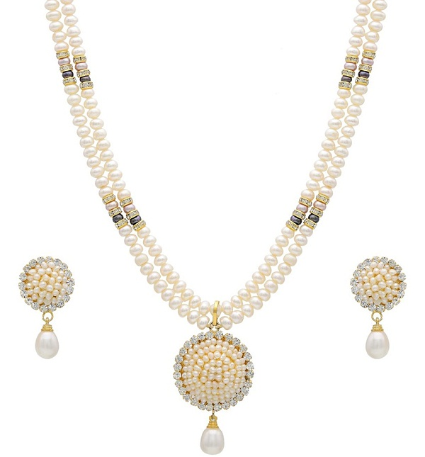 natural pearls necklace set