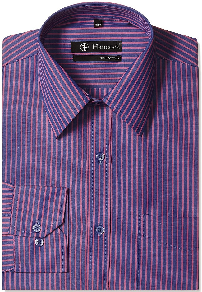 Best formal shirts just below rs 500 we absolutely love for Purple and black striped t shirt
