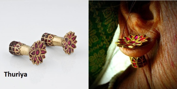thuriya traditional earrings of assam, list of indian states and their dresses