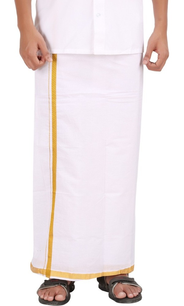 mundu a traditional white cotton solid dhoti of kerala