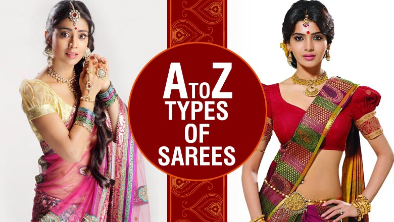 Different Types of Sarees designs and patterns in india