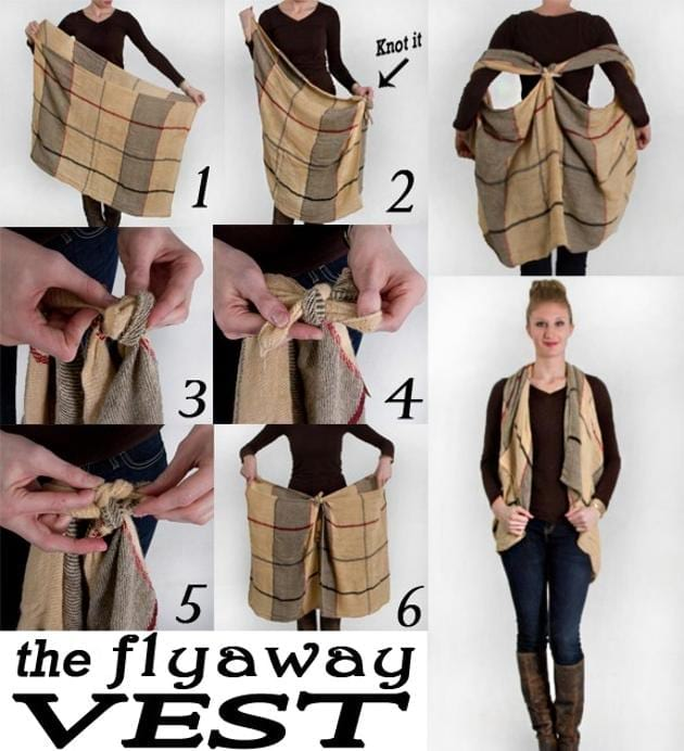 Wear Your Favorite Scarf As a Flyaway Vest