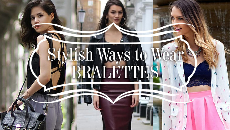 outfit ideas for how to wear bralettes in fall and winter