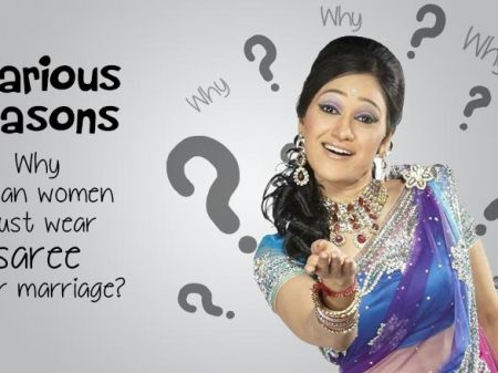 7 Hilarious Reasons given to every woman to wear a saree after marriage