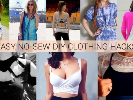 36 Awesomely Easy No-Sew DIY Clothing Hacks