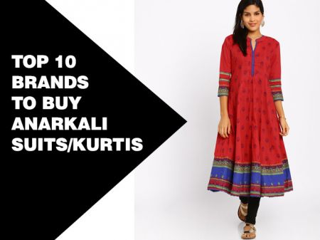 Top 10 Brands to Buy Anarkali Suits/Kurtis