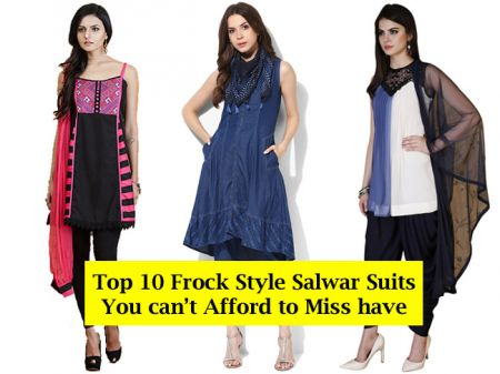 Top 15 Frock Style Salwar Suits You can't Afford to Miss